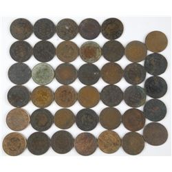 40x Canada - Large 1 Cent Coins. Mix of Dates
