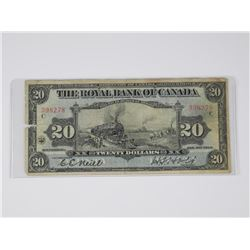 Royal Bank of Canada - January 1913 Twenty Dollar