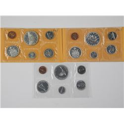 3x RCM Silver PL Coin Sets:1963, 1965, 1967
