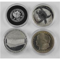 4x .9999 Fine Silver Collector Bullion Coins