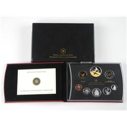 2009 Proof Set - Silver with Gold Overlay. (SRE) (