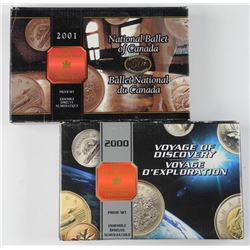 2x RCM Proof Silver Coin Set: 2000 / 2001.