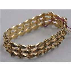 Estate 18kt Fold Fancy Custom Bracelet.