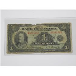 Bank of Canada 1935 - $1.00 Osborne - Towers.