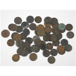 60x Canada Large 1 Cent Coins. Mixed George, Edwar