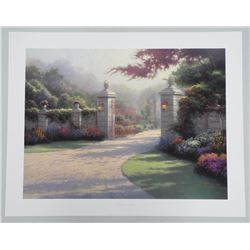 'Thomas Kinkade' (1956 - 2012)Litho 'Summer Gate'