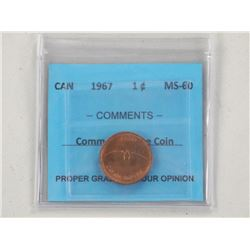 Canada 1967 One Cent MS-60.