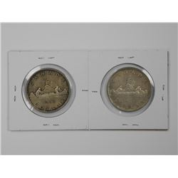 2x Canada Silver Dollar - SS and NSS.
