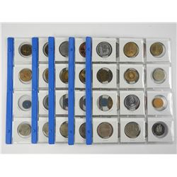 60x Mixed Coins etc (5 Pages)