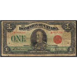 1923 $1 Dominion of Canada Note