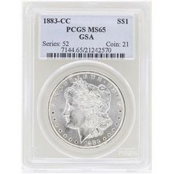 1883-CC $1 Morgan Silver Dollar Coin PCGS MS65 GSA