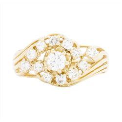 14KT Yellow Gold Ladies 0.86 ctw Diamond Ring