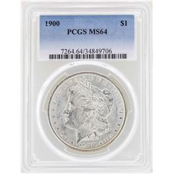 1900 $1 Morgan Silver Dollar Coin PCGS MS64