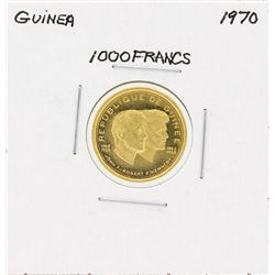 1970 Guinea 1000 Francs Gold Coin