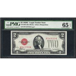 1928C $2 Legal Tender Note Fr.1504 PMG Gem Uncirculated 65EPQ
