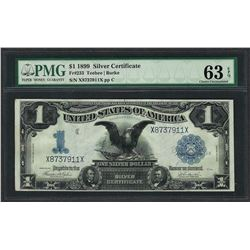 1899 $1 Black Eagle Silver Certificate Note Fr.233 PMG Choice Uncirculated 63EPQ