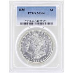 1885 $1 Morgan Silver Dollar Coin PCGS MS64