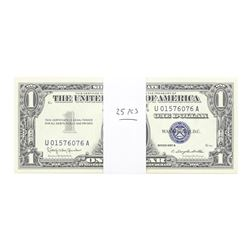 Lot of (25) Consecutive 1957B $1 Silver Certificate Notes Uncirculated