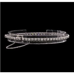14KT White Gold Ladies 2.10 ctw Diamond Bracelet