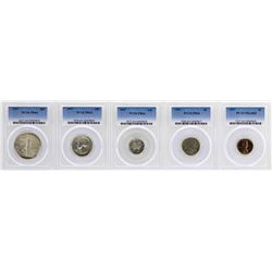 1937 (5) Coin Proof Set PCGS Graded PR63/64
