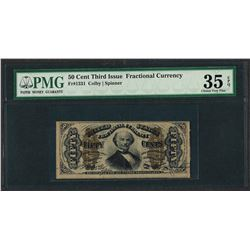 1863 Third Issue 50 Cent Fractional Currency Note PMG Choice Very Fine 35EPQ