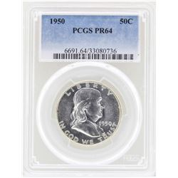 1950 Franklin Half Dollar Proof Coin PCGS PR64