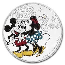 2017 Niue 1 oz Silver $2 Disney Love Coin