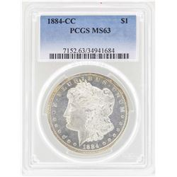 1884-CC $1 Morgan Silver Dollar Coin PCGS MS63