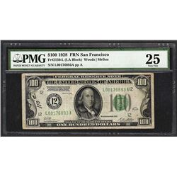 1928 $100 Federal Reserve Note Fr.2150-L PMG Very Fine 25