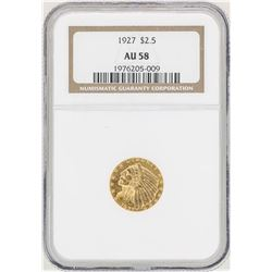 1927 $2 1/2 Indian Head Quarter Eagle Gold Coin NGC AU58