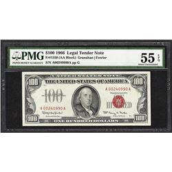 1966 $100 Legal Tender Note Fr.1550 PMG About Uncirculated 55EPQ
