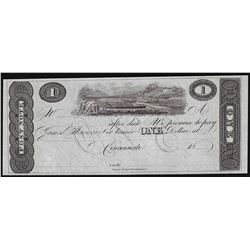 1800's $1 Cincinnati Post Note