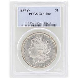 1887-O $1 Morgan Silver Dollar Coin PCGS Genuine