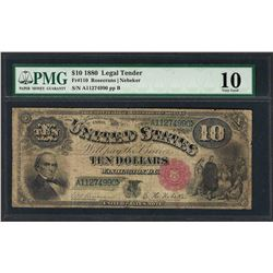 1880 $10 Jackass Legal Tender Note Fr.110 PMG Very Good 10