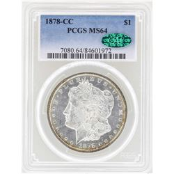 1878-CC $1 Morgan Silver Dollar Coin PCGS MS64 CAC
