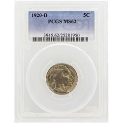 1920-D Buffalo Nickel Coin PCGS MS62