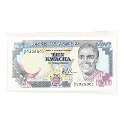 Pack of (100) Zambia 10 Kawacha Uncirculated Notes