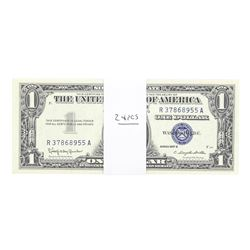 Lot of (24) Consecutive 1957B $1 Silver Certificate Notes Uncirculated
