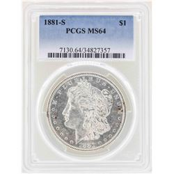1881-S $1 Morgan Silver Dollar Coin PCGS MS64