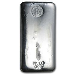 One piece 1 kilo 0.999 Fine Silver Bar Perth Mint-57625