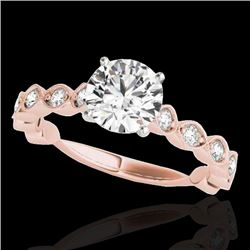 1.5 CTW H-SI/I Certified Diamond Solitaire Ring 10K Rose Gold - REF-163X6T - 34881