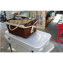 BASKET LARGE UNDERBED TOTE AND CLEANING SUPPLIES