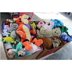 THREE BOXES OF DISNEY STUFFIES