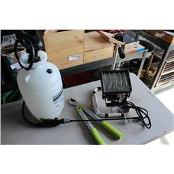 GARDEN SPRAYER SHOPLIGHT AND PRUNER