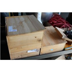 3 WOOD WINE CRATES