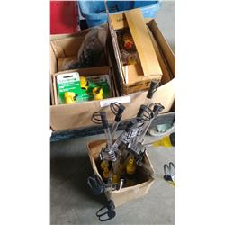 BOX OF GARDEN HOSE PARTS
