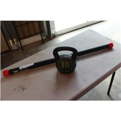 WEIGHT BAR AND KETTLE BELL