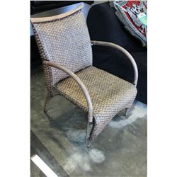 WICKER RATTAN PATIO CHAIR