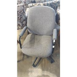 GREY ROLLING OFFICE ARMCHAIR