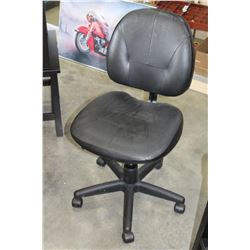 ROLLING LEATHER OFFICE CHAIR